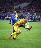 世界杯足球赛2014年合格者比赛乌克兰对法国 免版税图库摄影