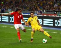 世界杯足球赛2014年合格者比赛乌克兰v英国 库存照片