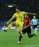 世界杯足球赛2018年乌克兰对土耳其在哈尔科夫,乌克兰 库存图片