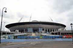 世界杯足球赛2018年 圣彼得堡体育场 库存照片