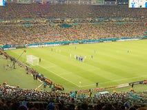 2014年世界杯足球赛巴西-阿根廷对波黑 库存图片