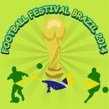 世界杯巴西2014年海报 免版税图库摄影