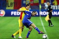 世界杯2014预备: 罗马尼亚安道尔 免版税库存照片