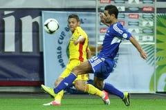 世界杯2014预备: 罗马尼亚安道尔 库存照片