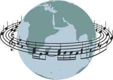 世界歌曲 库存图片
