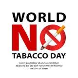 世界没有烟草天概念背景,现实样式 向量例证