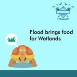 世界沼泽地天动画片设计例证,竞选财产为在社会媒介的使用 库存图片