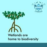 世界沼泽地天动画片设计例证,竞选财产为在社会媒介的使用 图库摄影