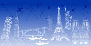世界游人目的地 免版税图库摄影