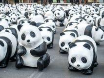 世界游览1,600熊猫在曼谷 免版税图库摄影