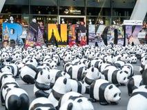 世界游览1,600熊猫在曼谷 免版税库存图片