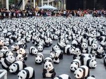 世界游览1,600熊猫在曼谷 免版税库存照片