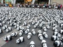 世界游览1,600熊猫在曼谷 库存图片