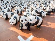 世界游览1600熊猫在曼谷 免版税库存图片