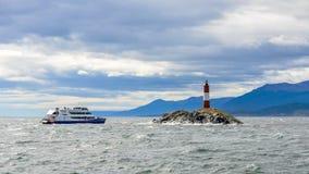 世界灯塔的末端,小猎犬海峡,阿根廷 免版税库存照片