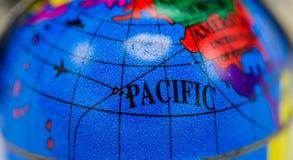 世界焦点的地图在和平的海的 库存图片