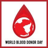 世界献血者天 传染媒介例证为假日 6月14日 免版税库存照片