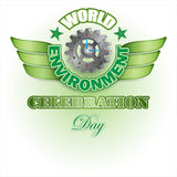 世界环境日,设计背景 免版税库存图片