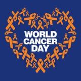世界癌症天传染媒介模板 免版税库存照片