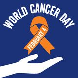 世界癌症天传染媒介模板 库存图片