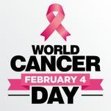世界癌症天传染媒介模板 图库摄影