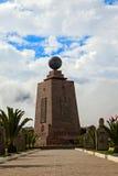 世界的中部, Mitad del Mundo,赤道,南美洲 库存照片