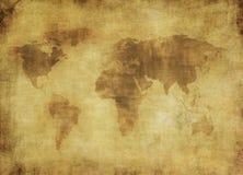 世界的古老映射 库存图片