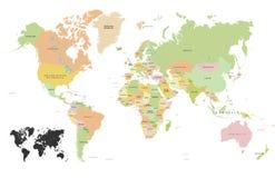 世界的国旗 库存例证