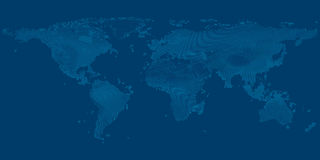 世界的地图在深蓝背景传染媒介的 免版税库存图片