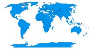 世界的地图 皇族释放例证