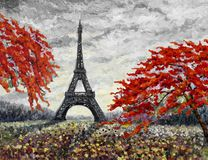 世界的巴黎欧洲市著名地标 皇族释放例证