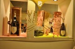世界的意大利Vinitaly最大的酒内部预映 免版税库存图片