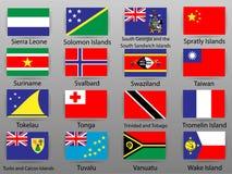 世界的所有国家旗子  皇族释放例证