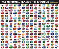 世界的所有正式国旗 黏着性设计 向量 皇族释放例证