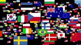 世界的旗子给2赋予生命 库存例证