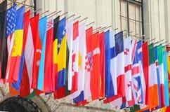 世界的旗子 库存图片