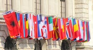 世界的旗子 库存照片