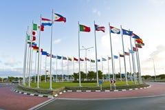 从世界的旗子 免版税库存照片