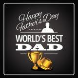 世界的最佳的爸爸战利品设计 10 eps 图库摄影