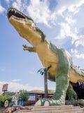 世界的最大的恐龙雕象 库存照片