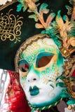 世界的狂欢节面具多数著名大运河威尼斯histo 免版税库存照片
