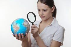 世界的看法的关闭 免版税库存图片