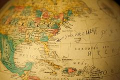 世界的老地球地图 免版税库存图片