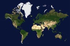 世界的色的物理地图,从空间的看法 向量例证