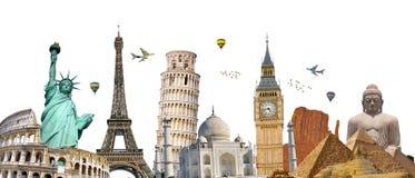 世界的著名地标 免版税图库摄影
