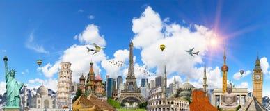 世界的著名地标 免版税库存照片