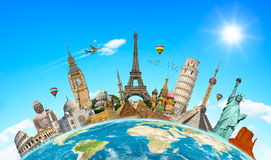 世界的著名纪念碑 免版税库存照片