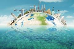 世界的著名纪念碑 免版税图库摄影