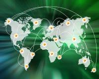 世界的连接 库存图片