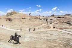 世界的鬼城在新疆的 库存图片